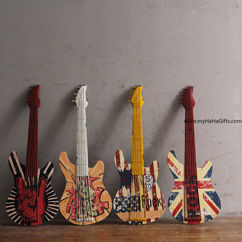 Retro Guitar Wall Decor