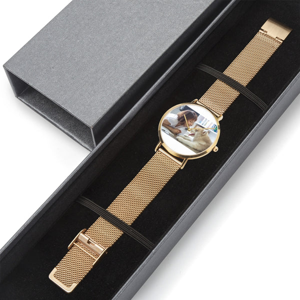 Steel Strap Water-Resistant Quartz Watch (33/38/41mm) - my-haha-gifts