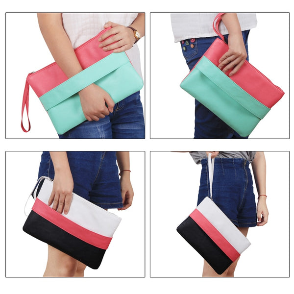 Candy Color Leather Women Clutches - my-haha-gifts