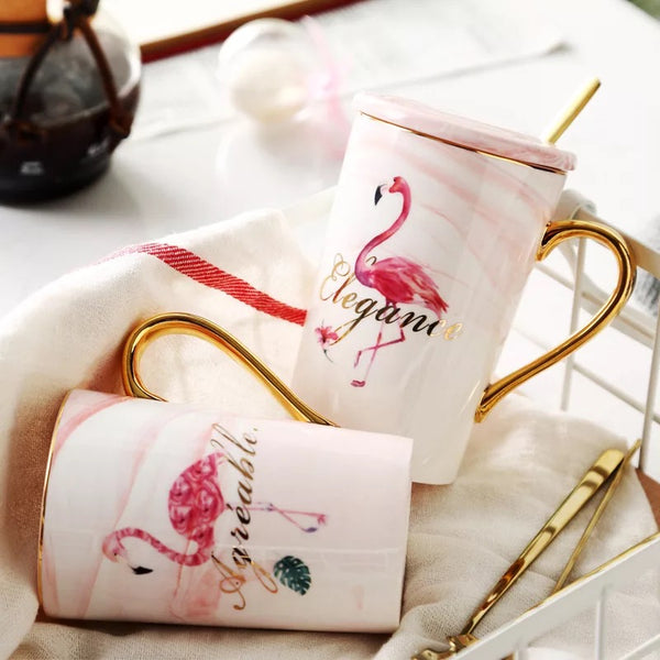 Beautiful Flamingo Cup Gift Set - my-haha-gifts