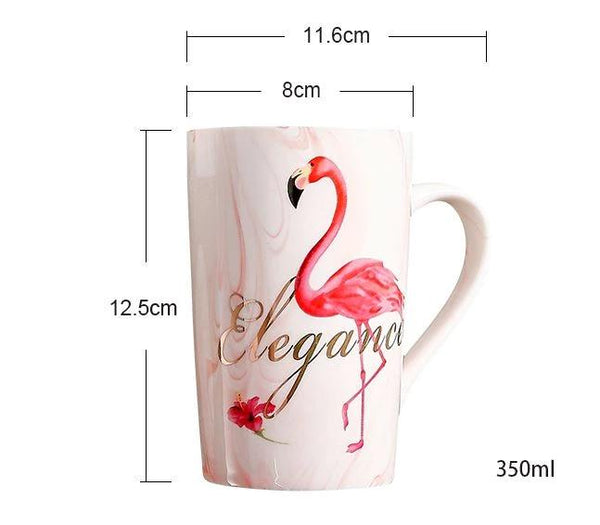 Beautiful Flamingo Cup Gift Set