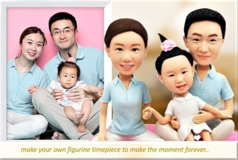 FG19-A003 Triple 3D Figurines - (Family Sample) - my-haha-gifts