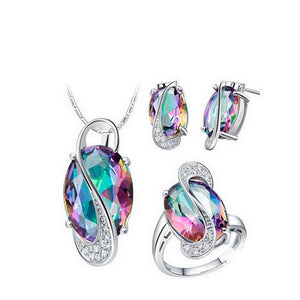 925 Sterling Silver Jewelry set - my-haha-gifts
