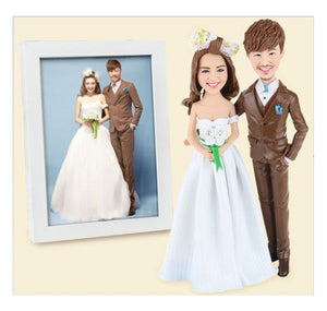 FG19-A002 Dual 3D Figurines - (Wedding Couple Sample) - my-haha-gifts