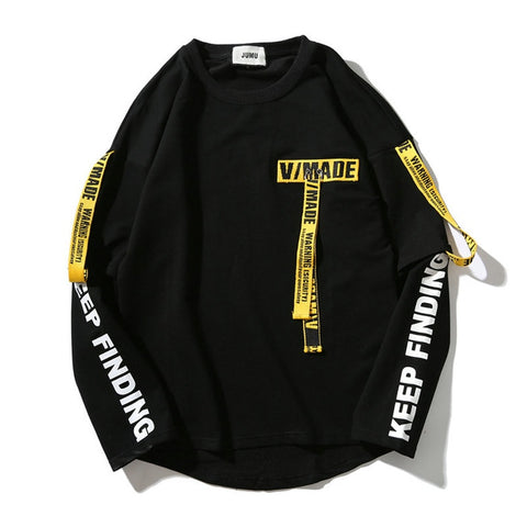 Pullover Streetwear Cotton Casual Men Sweatshirt - my-haha-gifts