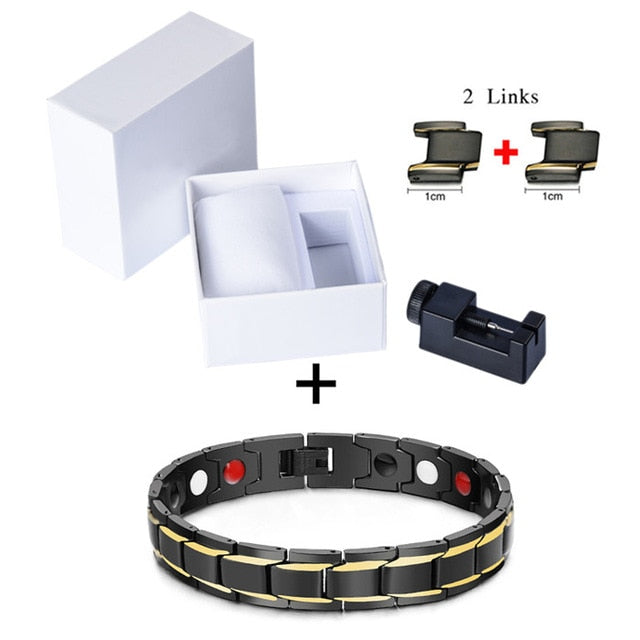 Magnetic Titanium Steel Power Health Bracelet - my-haha-gifts