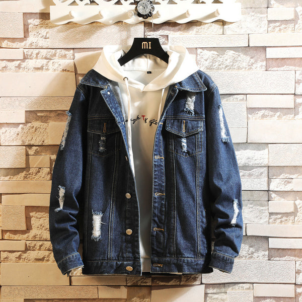 Men's Retro Denim Streewear Jacket - my-haha-gifts
