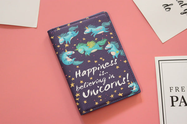 Unicorn Travel Passport Holder - my-haha-gifts