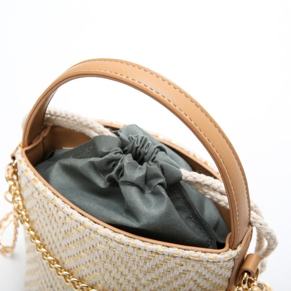 Straw Beach Bucket-shaped Bag - my-haha-gifts