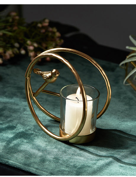Nordic Style Wrought Iron Bird Candle Holder (style B) - my-haha-gifts
