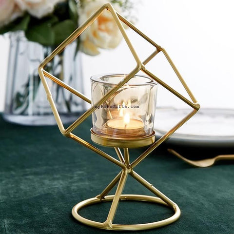 Nordic Style Geometric Candle Holders Table Top Decorations - my-haha-gifts