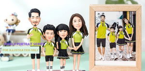 FG19-A004 Quad 3D Figurines - (Family Sample) - my-haha-gifts
