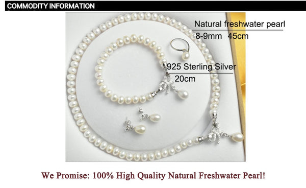 Natural Freshwater  Pearl Jewelry Sets - my-haha-gifts