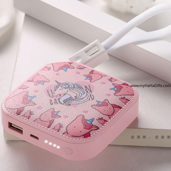 HaHaGift Mini Unicorn Powerbank - Sweet Gadget - my-haha-gifts