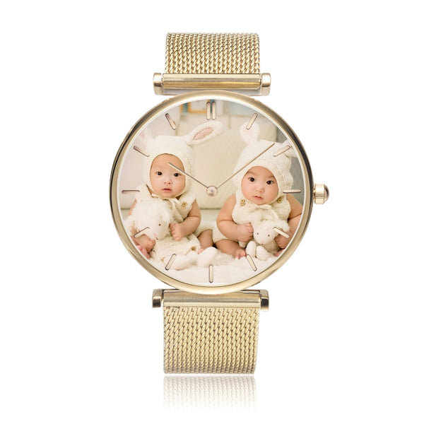 Gold / Silver / Rose Gold Steel Strap Water-Resistant Quartz Watch (with Indicators) - my-haha-gifts