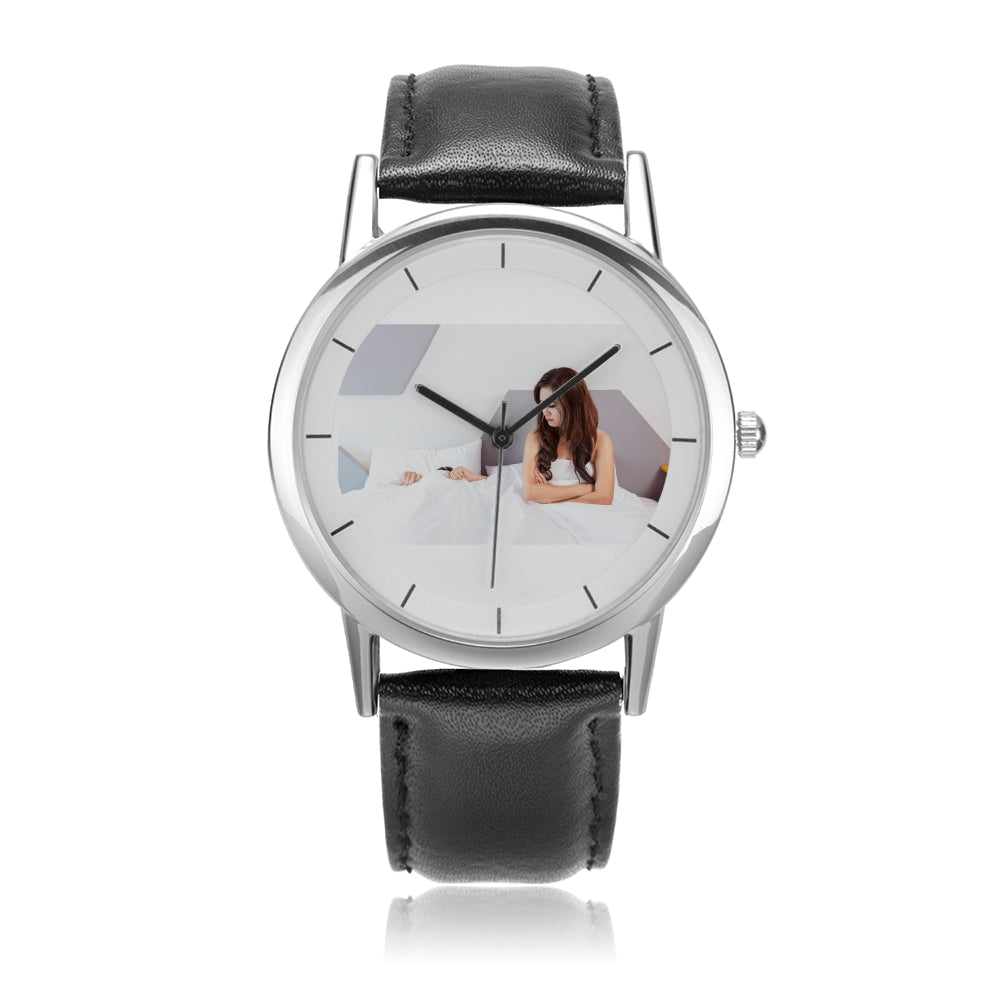 Double-Layer Concise Dial Water-Resistant Quartz Watch - my-haha-gifts