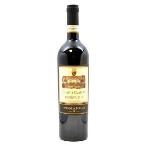 Tomaiolo Chianti Classico Riserva 750mL Type: Red Categories: 750mL, Chianti, Italy, quantity high enough for online, region_Italy, size_750mL, subtype_Chianti. Buy today at Wine and Liquor Mart Poughkeepsie