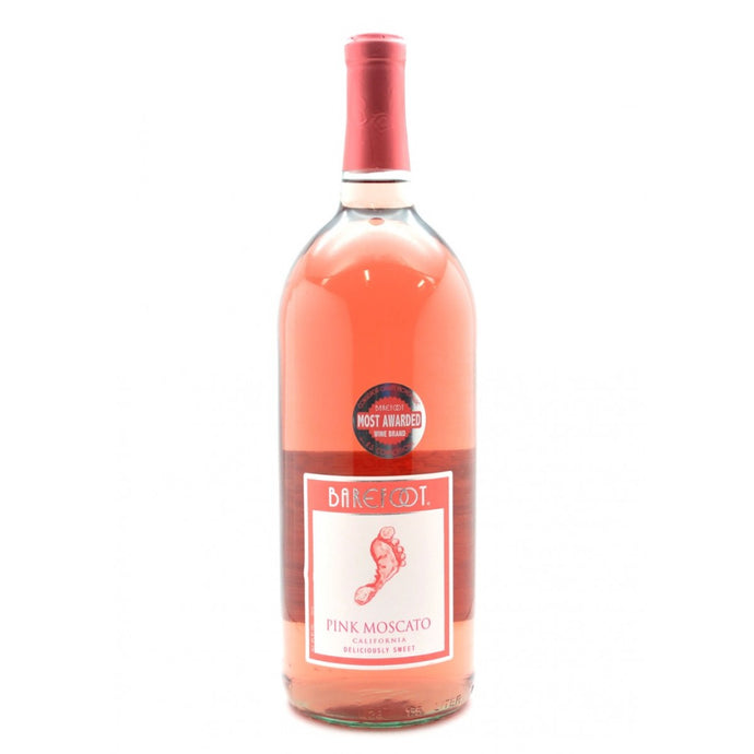 Barefoot - Pink Moscato 1.5L Type: White Categories: 1.5L, California, Moscato, quantity high enough for online, region_California, size_1.5L, subtype_Moscato. Buy today at Wine and Liquor Mart Poughkeepsie