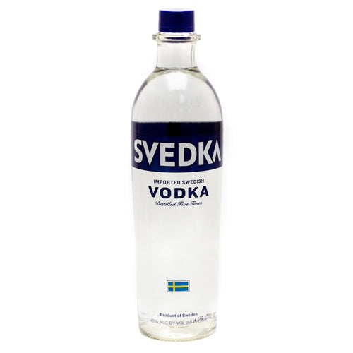 SVEDKA Imported Swedish Vodka 750ml Type: Liquor Categories: 750mL, quantity high enough for online, size_750mL, subtype_Vodka, Vodka. Buy today at Wine and Liquor Mart Poughkeepsie