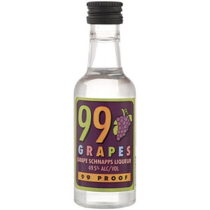 99 Brand Grapes Schnapps Liqueur, 50mL Type: Liquor Categories: 50mL, Liqueur, quantity high enough for online, size_50mL, subtype_Liqueur. Buy today at Wine and Liquor Mart Poughkeepsie