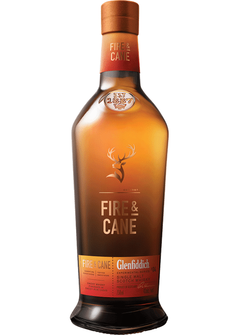 Glenfiddich Fire & Cane Scotch Whisky 750mL Type: Liquor Categories: 750mL, Scotch, size_750mL, subtype_Scotch, subtype_Whiskey, Whiskey. Buy today at Wine and Liquor Mart Poughkeepsie