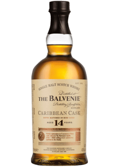 The Balvenie 14 Year Old Caribbean Cask Scotch Whiskey 750mL Type: Liquor Categories: 750mL, quantity exception rare, Scotch, size_750mL, subtype_Scotch, subtype_Whiskey, Whiskey. Buy today at Wine and Liquor Mart Poughkeepsie
