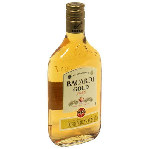 Bacardi Gold Rum, 375 mL Type: Liquor Categories: 375mL, quantity high enough for online, Rum, size_375mL, subtype_Rum. Buy today at Wine and Liquor Mart Poughkeepsie
