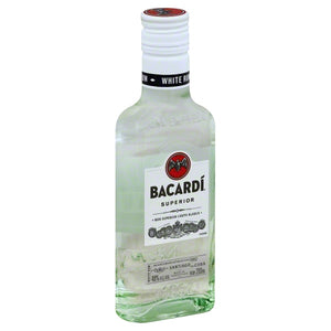 Bacardi Superior Rum 200mL Type: Liquor Categories: 200mL, Rum, size_200mL, subtype_Rum. Buy today at Wine and Liquor Mart Poughkeepsie