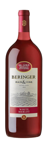 Beringer White Merlot - 1.5L Type: White Categories: 1.5L, California, quantity high enough for online, region_California, size_1.5L, subtype_White Merlot, White Merlot. Buy today at Wine and Liquor Mart Poughkeepsie