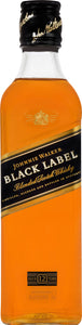Johnnie Walker Black Label Blended Scotch Whisky 375mL Type: Liquor Categories: 375mL, quantity high enough for online, Scotch, size_375mL, subtype_Scotch, subtype_Whiskey, Whiskey. Buy today at Wine and Liquor Mart Poughkeepsie