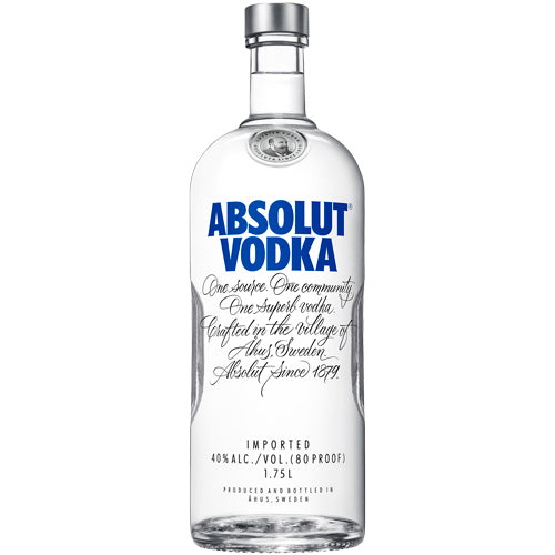 Absolut Vodka 1.75L Type: Liquor Categories: 1.75L, quantity high enough for online, size_1.75L, subtype_Vodka, Vodka. Buy today at Wine and Liquor Mart Poughkeepsie