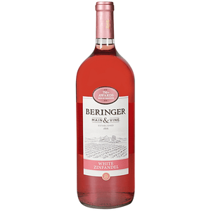 Beringer White Zinfandel Wine - 1.5L Type: White Categories: 1.5L, California, quantity high enough for online, region_California, size_1.5L, subtype_White Zinfandel, White Zinfandel. Buy today at Wine and Liquor Mart Poughkeepsie