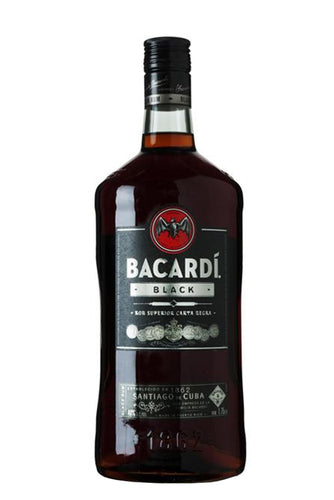 Bacardi Black Rum 1.75L Type: Liquor Categories: 1.75L, Flavored, quantity high enough for online, Rum, size_1.75L, subtype_Flavored, subtype_Rum. Buy today at Wine and Liquor Mart Poughkeepsie