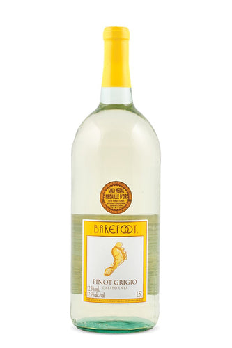 Barefoot - Pinot Grigio 1.5L Type: White Categories: 1.5L, California, Pinot Grigio, quantity high enough for online, region_California, size_1.5L, subtype_Pinot Grigio. Buy today at Wine and Liquor Mart Poughkeepsie