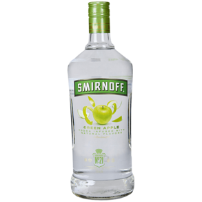 Smirnoff Green Apple Flavored Vodka 1.75L Type: Liquor Categories: 1.75L, Flavored, quantity high enough for online, size_1.75L, subtype_Flavored, subtype_Vodka, Vodka. Buy today at Wine and Liquor Mart Poughkeepsie