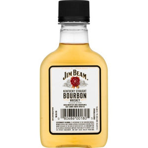Jim Beam Kentucky Straight Bourbon Whiskey 100 mL Type: Liquor Categories: 100mL, Bourbon, quantity high enough for online, size_100mL, subtype_Bourbon, subtype_Whiskey, Whiskey. Buy today at Wine and Liquor Mart Poughkeepsie