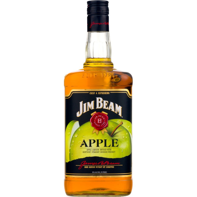 Jim Beam Apple Bourbon Whiskey 1.75L Type: Liquor Categories: 1.75L, Bourbon, quantity high enough for online, size_1.75L, subtype_Bourbon, subtype_Whiskey, Whiskey. Buy today at Wine and Liquor Mart Poughkeepsie