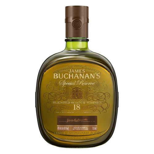 James Buchanan's 18 year Blended Scotch Whisky Special Reserve - 750ml Bottle Type: Liquor Categories: 750mL, quantity high enough for online, Scotch, size_750mL, subtype_Scotch, subtype_Whiskey, Whiskey. Buy today at Wine and Liquor Mart Poughkeepsie