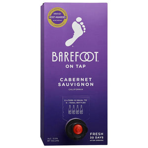 Barefoot Cabernet Sauvignon 3 Liter Box Type: Red Categories: 3L, Cabernet Sauvignon, California, region_California, size_3L, subtype_Cabernet Sauvignon. Buy today at Wine and Liquor Mart Poughkeepsie