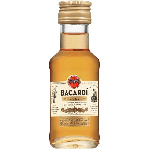 Bacardi Gold Rum 100mL Type: Liquor Categories: 100mL, Rum, size_100mL, subtype_Rum. Buy today at Wine and Liquor Mart Poughkeepsie