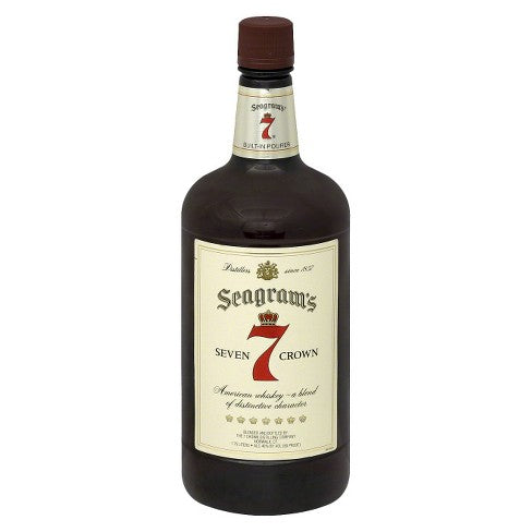 Seagram's 7 Crown American Whiskey - 1.75L Bottle Type: Liquor Categories: 1.75L, quantity high enough for online, size_1.75L, subtype_Whiskey, Whiskey. Buy today at Wine and Liquor Mart Poughkeepsie
