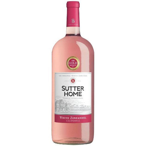 Sutter Home White Zinfandel 1.5L Type: Pink Categories: 1.5L, California, quantity high enough for online, region_California, size_1.5L, subtype_White Zinfandel, White Zinfandel. Buy today at Wine and Liquor Mart Poughkeepsie