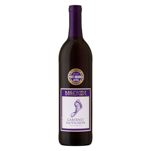 Barefoot - Cabernet Sauvignon 750mL Type: Red Categories: 750mL, Cabernet Sauvignon, California, quantity high enough for online, region_California, size_750mL, subtype_Cabernet Sauvignon. Buy today at Wine and Liquor Mart Poughkeepsie