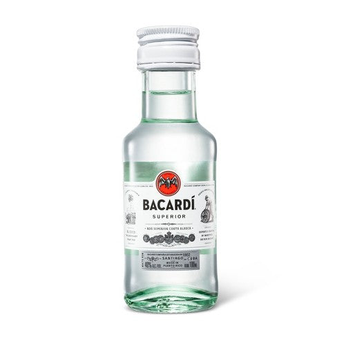 Bacardi Superior Rum - 100ml Bottle Type: Liquor Categories: 100mL, quantity high enough for online, Rum, size_100mL, subtype_Rum. Buy today at Wine and Liquor Mart Poughkeepsie