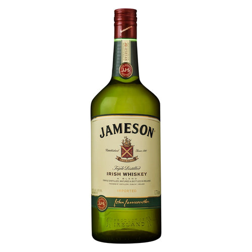 Jameson - Irish Whiskey - Triple Distilled 1.75L Type: Liquor Categories: 1.75L, Irish, quantity high enough for online, size_1.75L, subtype_Irish, subtype_Whiskey, Whiskey. Buy today at Wine and Liquor Mart Poughkeepsie