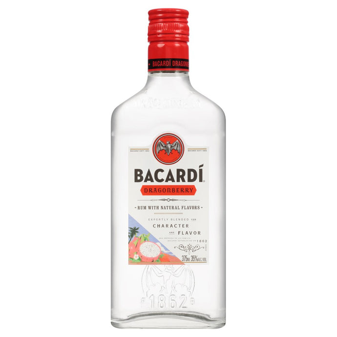 Bacardi Dragonberry Flavored Rum 375mL Type: Liquor Categories: 375mL, Flavored, Rum, size_375mL, subtype_Flavored, subtype_Rum. Buy today at Wine and Liquor Mart Poughkeepsie