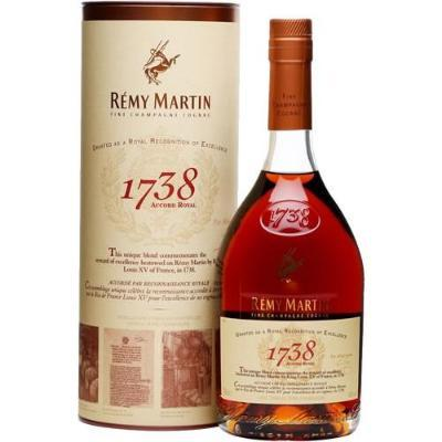 Remy Martin 1738 Accord Royal Cognac Bottle 750 ML Type: Liquor Categories: 750mL, Cognac, quantity high enough for online, size_750mL, subtype_Cognac. Buy today at Wine and Liquor Mart Poughkeepsie