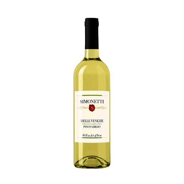 Simonetti Pinot Grigio 750mL Type: White Categories: 750mL, Italy, Pinot Grigio, quantity high enough for online, region_Italy, size_750mL, subtype_Pinot Grigio. Buy today at Wine and Liquor Mart Poughkeepsie