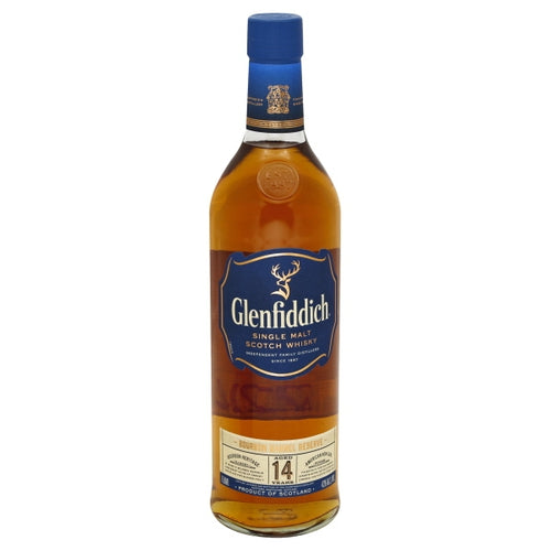 Glenfiddich 14 Year Old Bourbon Barrel Reserve Scotch Whiskey 750mL Type: Liquor Categories: 750mL, quantity exception rare, Scotch, size_750mL, subtype_Scotch, subtype_Whiskey, Whiskey. Buy today at Wine and Liquor Mart Poughkeepsie