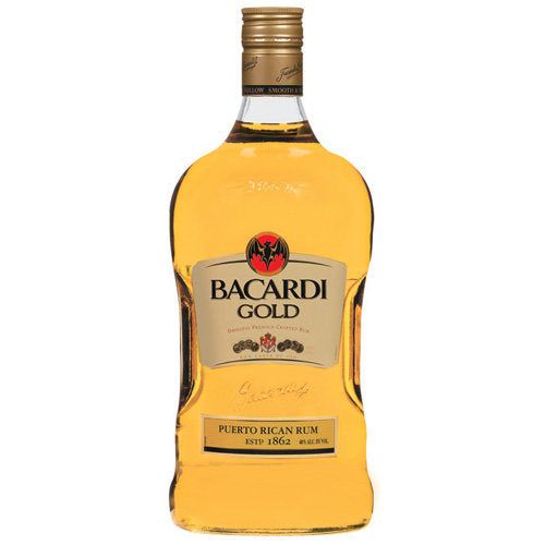 Bacardi Gold Rum 1.75L Type: Liquor Categories: 1.75L, quantity high enough for online, Rum, size_1.75L, subtype_Rum. Buy today at Wine and Liquor Mart Poughkeepsie